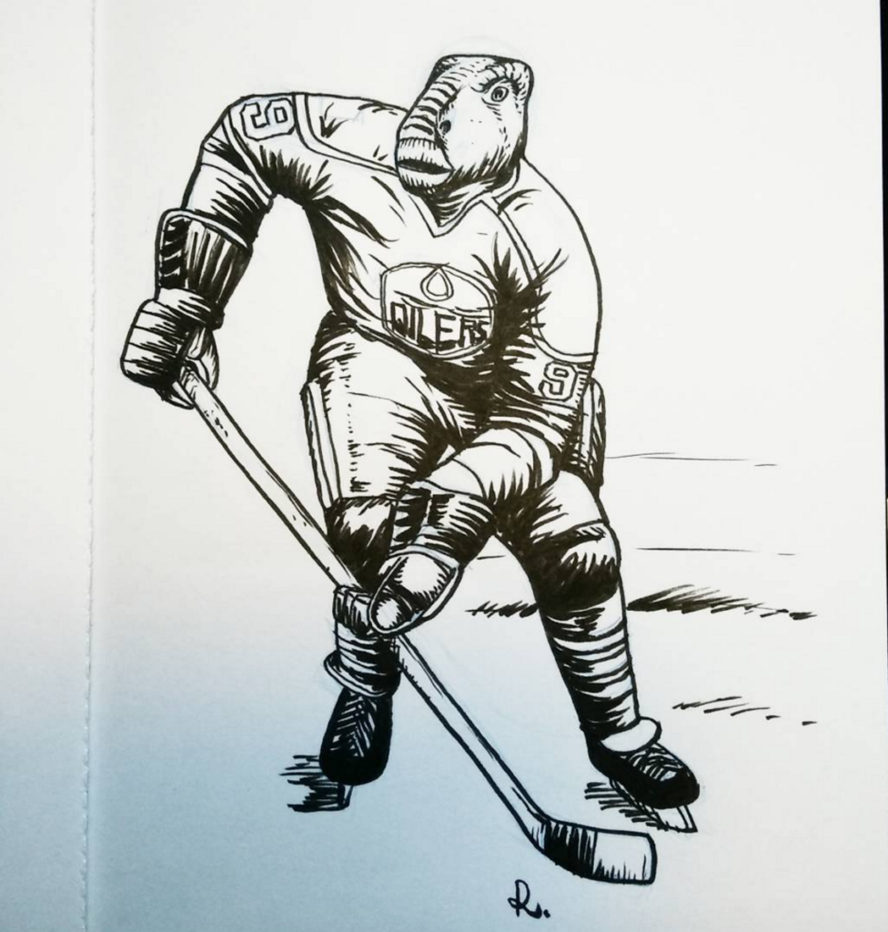 rembrand_le_compte_on_instagram___inktober__dinosaur_day_10__iguanodon_hockey_player__possibly_gretzky_